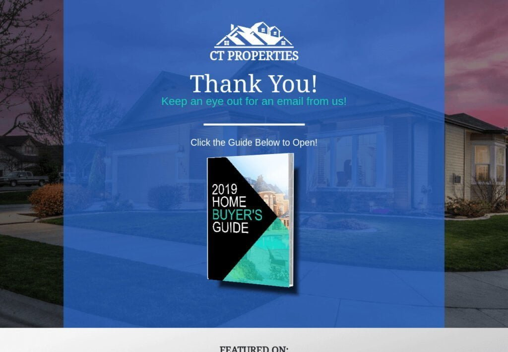 Real Estate Funnel_Thank You Page