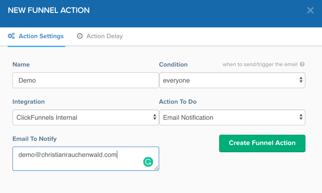 Enabling notification in the funnel to follow up leads