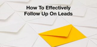 How to effectively follow up on leads