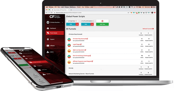 CF Power Scripts on laptop and mobile