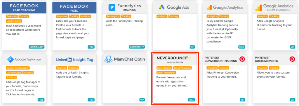 Email verification with NeverBounce