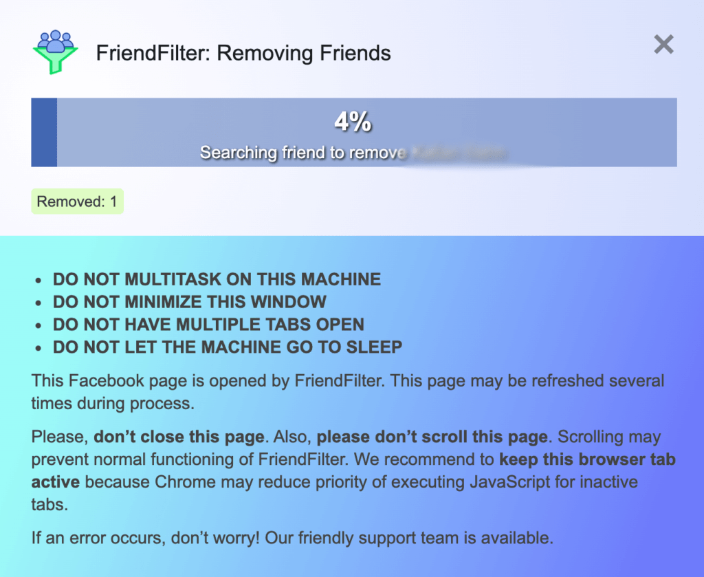 Delete inactive Facebook friends using FriendFilter