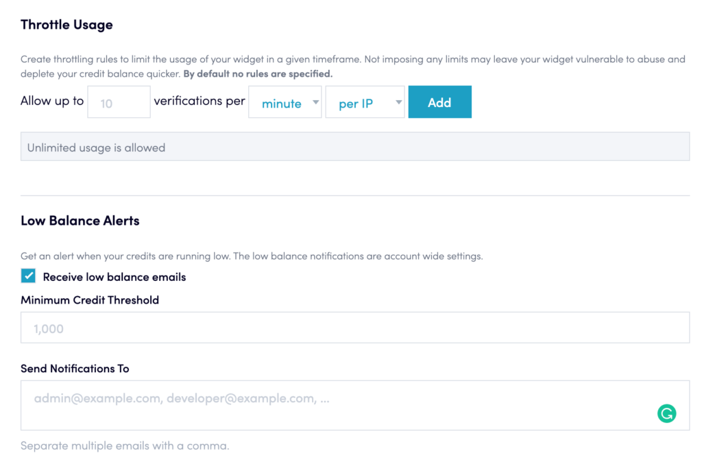 Email verification limit in Clickfunnels