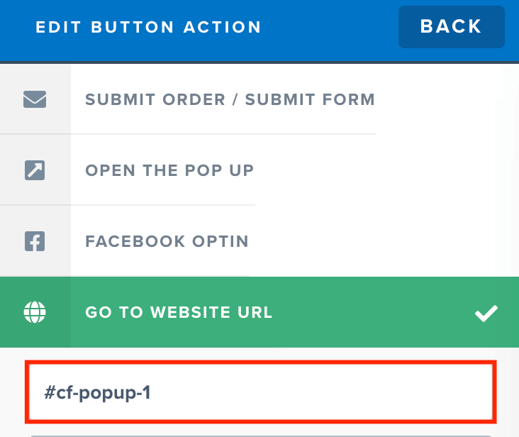 Setting up button action