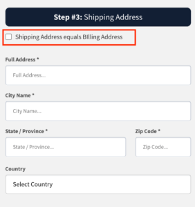 Checkbox in Clickfunnels for shipping and billing address
