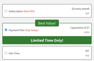 Highlighted and preselected product on Clickfunnels order page
